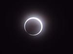 金環日食が終わるところ(センター職員撮影)