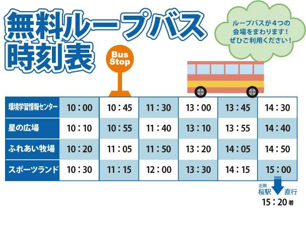 ループバスの時刻表